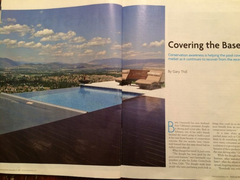 Our Pool Installation Was Featured In Dec. Pool & Spa News!