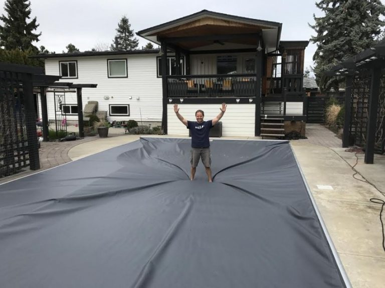 Another Successful Kelowna Pool Cover Installation